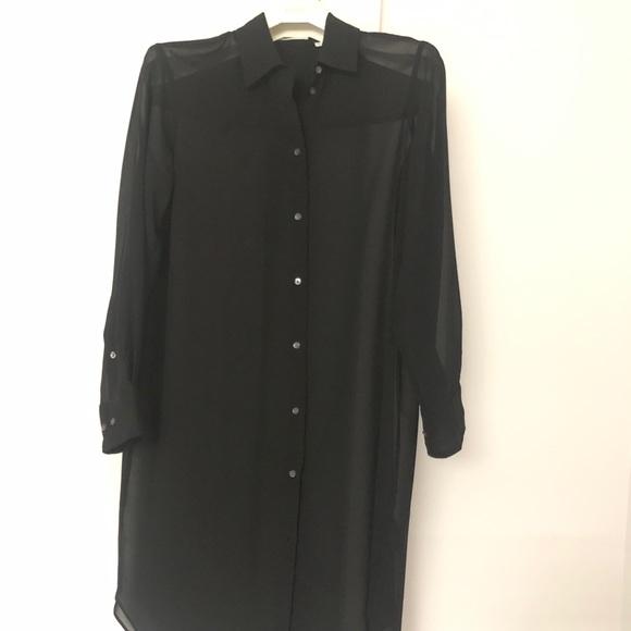 Babaton sheer chiffon blouse